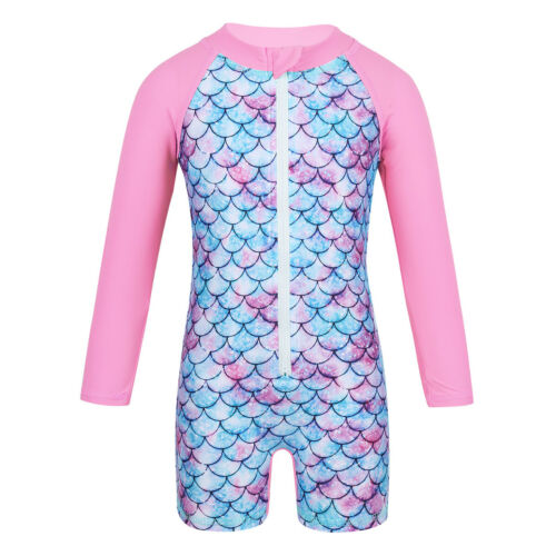 Baby Kid Girls Sun Protective Swimwear Rash Guard Costume Bathing Suit Swimsuit