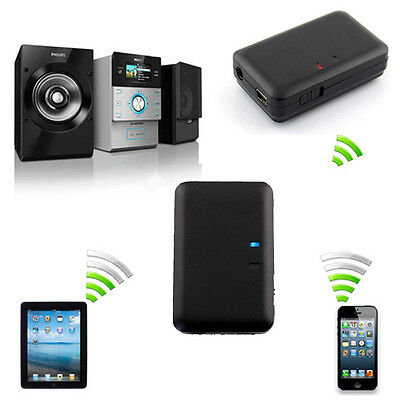 3.5mm Bluetooth Wireless Receiver Stereo Audio Music For iPod iPhone MP3 MP4 PC