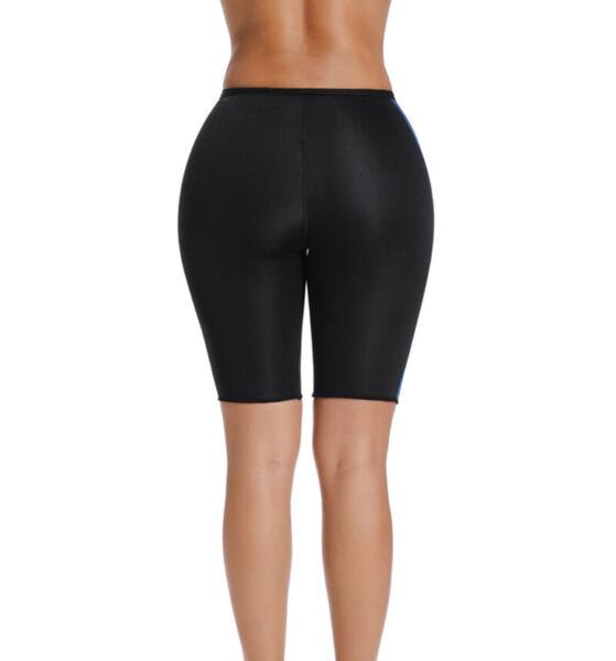 Damen Fit Shaper Pants Thermo Neopren Abnehmen Schweiß Sauna Yoga Trainer Hose