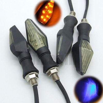 4x Universal 12V Motorcycle Smoke 13LED Turn Signal Indicator Light Amber Lamp