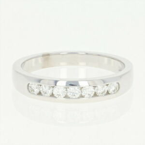 NEW-Hearts-On-Fire-Diamond-Wedding-Band-18k-White-Gold-Ring-Round-Cut-26ctw