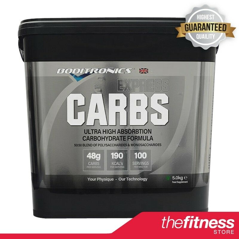 Boditronics Express Carbs (5kg) FAST FREE DELIVERY