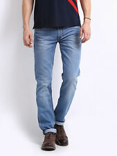 Export surplus, Men's light Blue Delta Tampered Slim Fit Jeans,