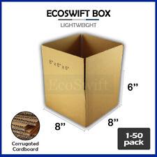 1 50 8x8x6 Ecoswift Cardboard Packing Mailing Shipping Corrugated Box Cartons