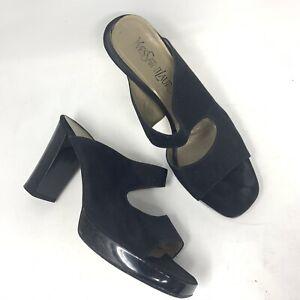 yves saint laurent ysl sandal shoes nylon womens 65 black