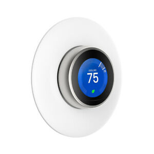 6-3-034-White-Wall-Plate-Cover-For-Nest-Learning-Thermostat-3rd-2nd-1st-Generation