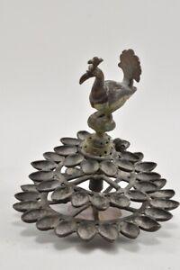 g71k17- Indische Metallskulptur mit Pfau