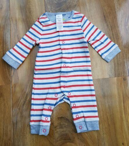 Mini Boden Baby Boys LONG SLEEVE Multi Stripes Romper Y0041 BRAND NEW