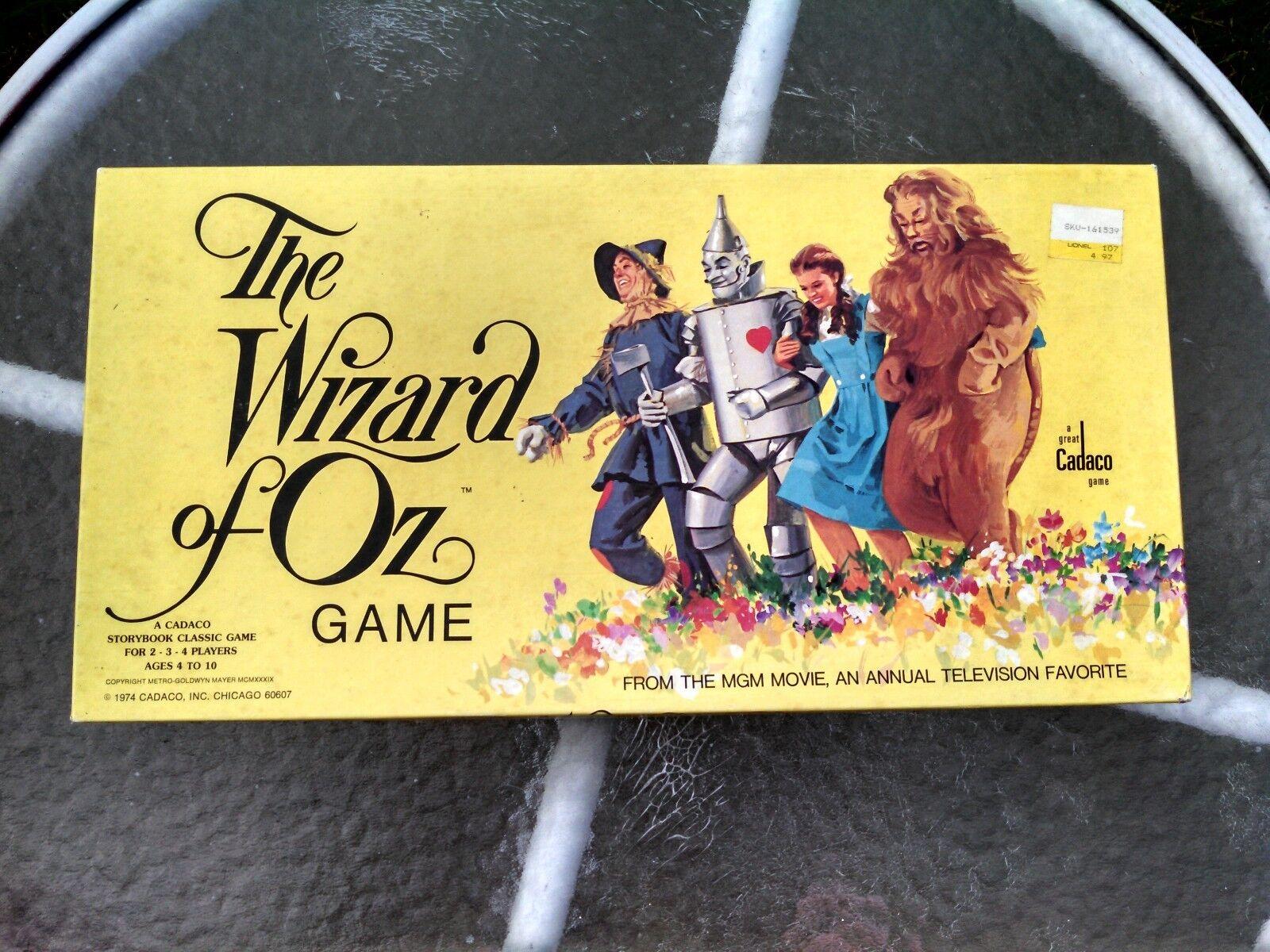 El Mago de oz cuentos Clásico Juego De Mesa 1974 Cadaco Inc Sellado Nuevo en Paquete
