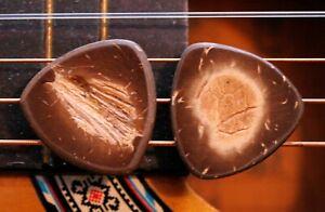 2-Coconut-Guitar-Picks-Fender-Telecaster-Stratocaster-Neck-Body-Tele-Strat-ART