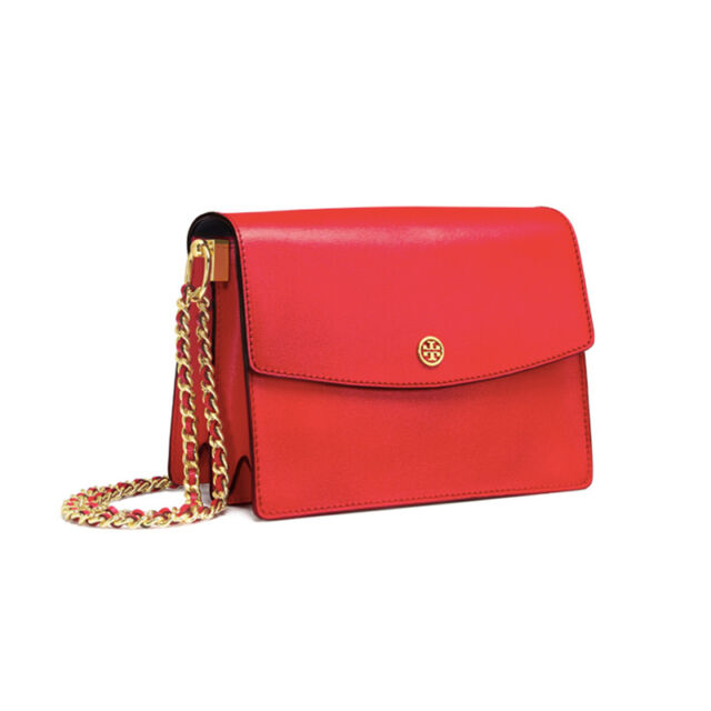 be15150dc TORY BURCH Parker Convertible Shoulder Bag Women Tote NWT Free gift Cherry  Red