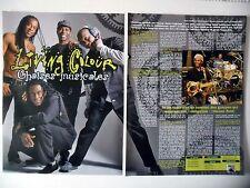 COUPURE DE PRESSE-CLIPPING :  LIVING COLOUR [3pages] 11/2009 Vernon Reid