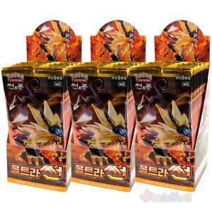Pokemon Cards TCG Sun & Moon Ultra Prism SUN SM5S Booster 3 Display Boxes Korean 4521329191775