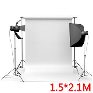 7x5FT Thin Vinyl White Photography Background Screen Studio Backdrop Photo Props
