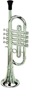 Original 3 Note Metal Plated Trumpet Childrens Classic Musical Instrument UK