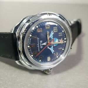 Wrist-Watch-Komandirskie-VDV-Vostok-USSR-Mechanical-Men-039-s-Serviced
