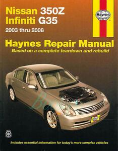 shop manual 350z g35 service repair nissan infiniti book haynes rh ebay com 2003 g35 service schedule 2003 g35 service manual pdf