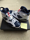 nike air jordan 6 retro olympic white/midnight navy brand new uk 10 usa 11