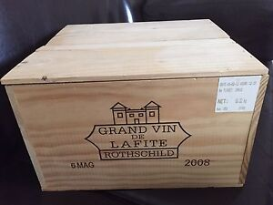 Details About Lafite Rothschild 2008 Magnum First Growth Owc Wooden Wine Caseboxcratepanel