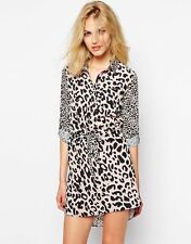 Womens Supertrash Shirt Dress in pink Leopard Print - XS 6-8