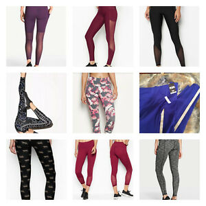 93c3ba3aab5f6 Details about VICTORIA'S SECRET SPORT TOTAL KNOCKOUT MESH TIGHT LEGGINGS  LEOPARD YOGA PANT