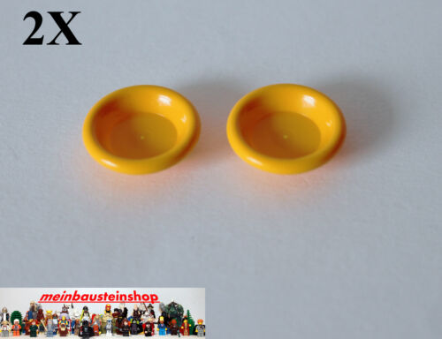 2x LEGO Friends Belville 6256 assiette dish 3x3 Orange Vif Bright Light ORA NEUF