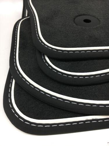 FR $$$ Original Lengenfelder Fußmatten für Seat Leon 5F ST Nubuk WEIß NEU