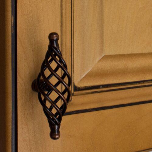 """GlideRite 3-3//8/"""" Birdcage Cabinet Hardware Knob Oil Rubbed Bronze  3045-85-ORB-1"""