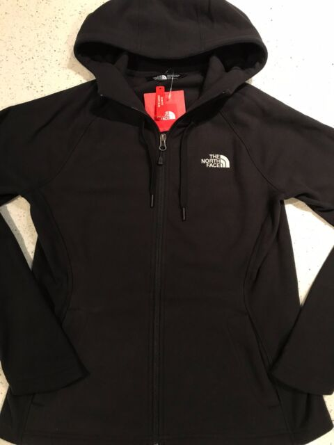 764d20d66 The North Face Womens Fleece 100 Tundra Full Zip Hoodie Jacket Black XL