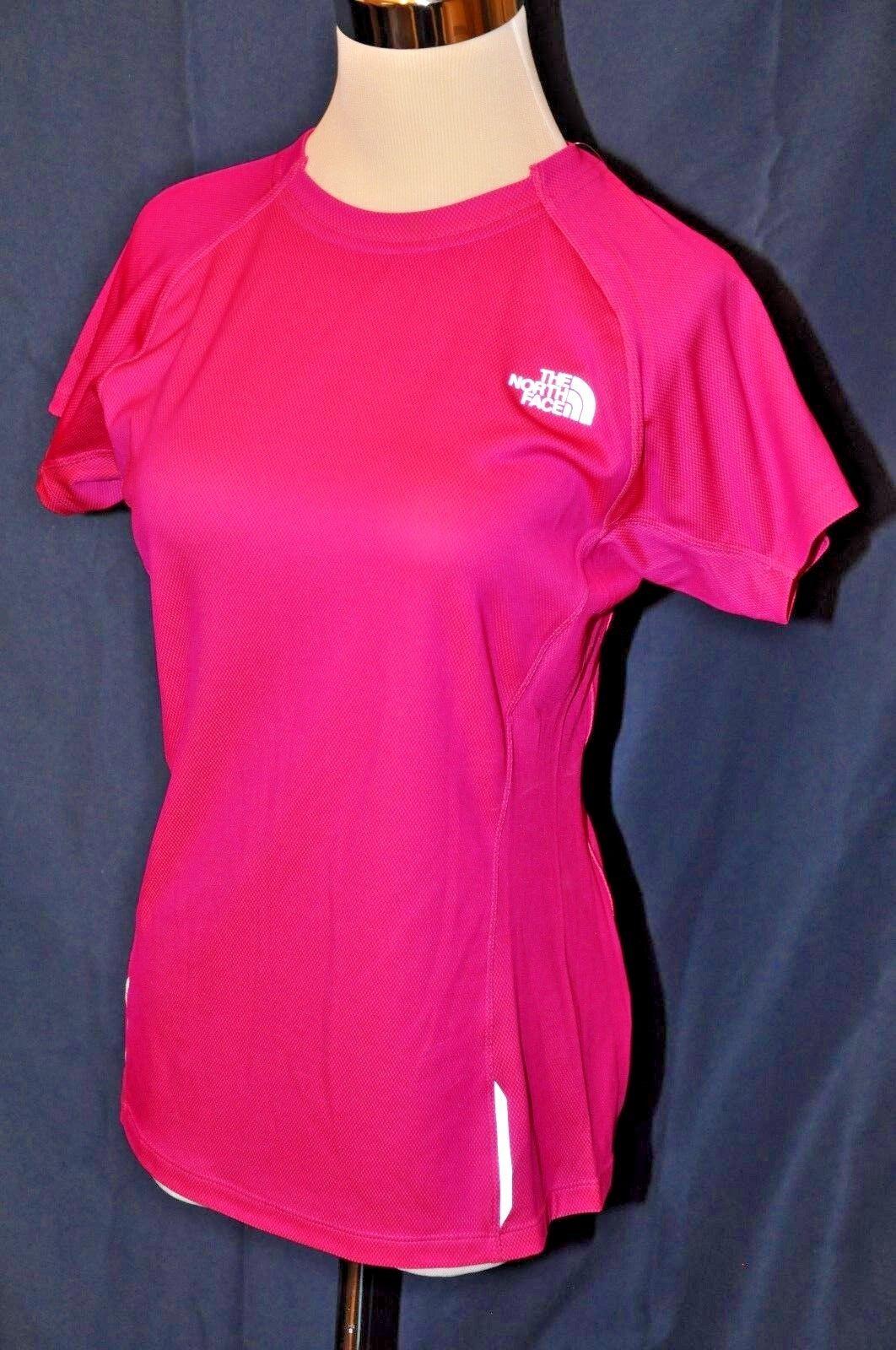 The North Face shirt top short Sleeve New  60 M Luminous pink running reflective