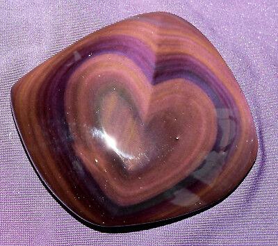 Regenbogenobsidian Aus Mexico Herz, 97,9g 73x70x16mm