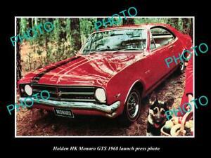 OLD-POSTCARD-SIZE-PHOTO-OF-GMH-1968-HK-HOLDEN-MONARO-GTS-LAUNCH-PRESS-PHOTO