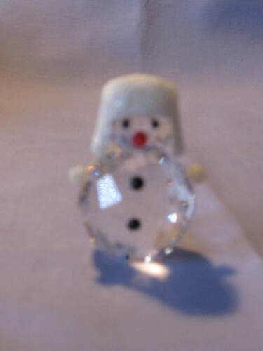 Swarovski Snowman Ornament With Boxes & Certificate Stunning Piece 5004516