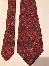 Vintage Renaissance Salvatore Ferragamo Silk Tie Multi Color Made In Italy