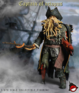 1-6-Octopus-Captain-Davy-Jones-HOT-FIGURE-TOYS-XD-TOYS-XD001-NEW