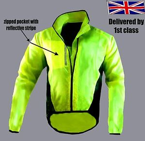 CYCLING-JACKET-HIGHLY-VISIBILE-HI-VIZ-WINDPROOF-WATERPROOF-BREATHABLE-WALKING