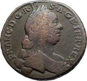1762-AUSTRIA-Holy-Roman-Emperor-Francis-I-Antique-Kreuzer-Austrian-Coin-i74561