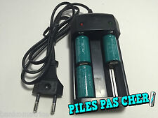 3 PILES ACCUS RECHARGEABLE CR123A 16340 3.7V 1200Mah MECO Li-ion + CHARGEUR 2016