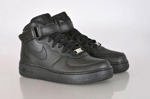 Nike Air Force 1 Mid GS Shoes Trainers Dunk High Jordan Blazer Retro Black  Black-black 314195-004 UK 2 5