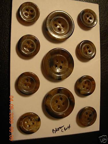 ITALIAN SUIT blazer SET coat buttons 4 hole 24//36 Surplus Sew Trims K2 Br  11p