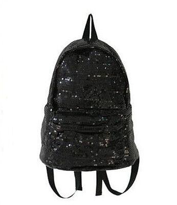 2 Colors Fashion Sequins Backpack Women Ladies Girls Leisure School Bag xp