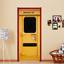 3D Emergency Exit Self-Adhesive Bedroom Door Murals Wall Sticker Home Decor