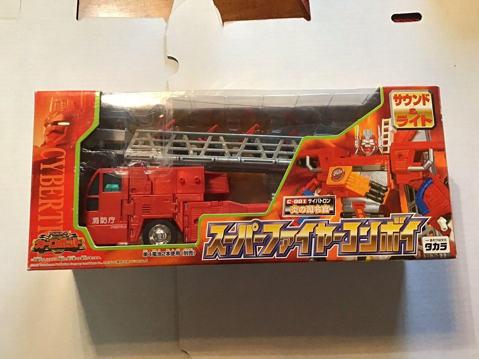 barato Seminuevo Transformers Rid Cybertron C-001 C-001 C-001 Optimus Prime súper fuego convoy Raro  venta caliente