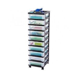 Craft storage rolling organizer cart 10 drawer drawers for Rolling craft storage cart