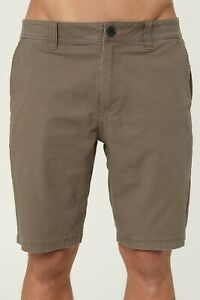 O-039-Neill-JAY-STRETCH-Mens-19-1-2-034-Twill-Chino-Style-Walkshorts-32-Moccasin-NEW