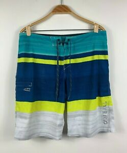 Oneill-Mens-Board-Shorts-Swim-Shorts-Size-34-Multicoloured-Summer-Surfwear
