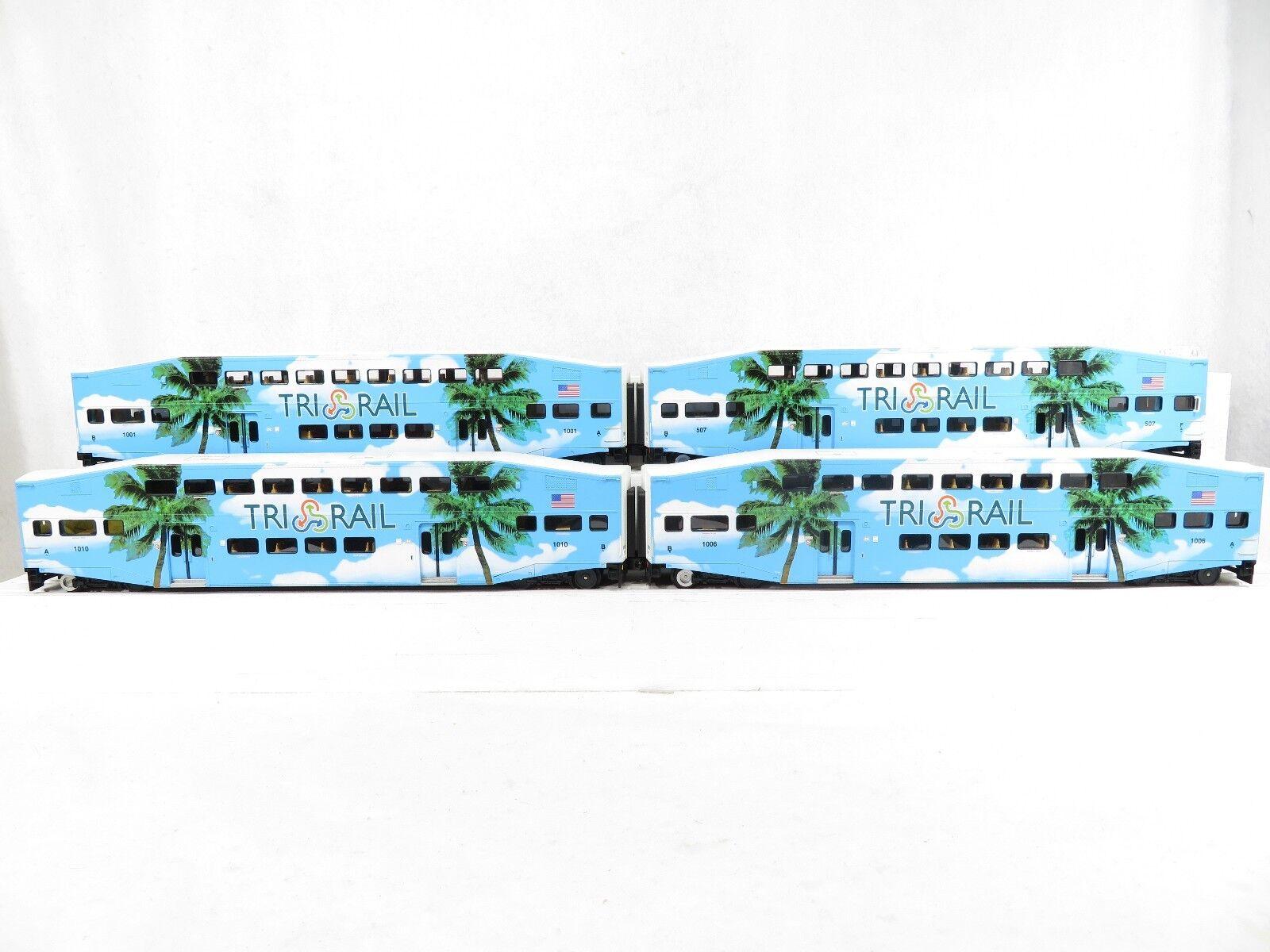 MTH 20-65060 Florida Tri-Rail 4 Car Bombardier Passenger Set (No Box) LN