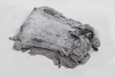 2419 Light Silver Battezzati Real Rabbit Fur | Luminosi Grandi Argento Conigli In Vera Pelliccia-mostra Il Titolo Originale Evidente Effetto