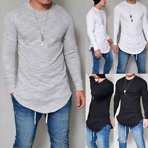 2018 Fashion Mens Casual Long Sleeve Shirts Formal Slim Fit Tops