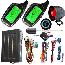 2 way remote car alarm system with engine start stop button remote anti robbery